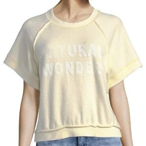 Free People NWT Natural Wonder Ivory Pullover Top